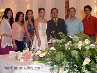 L-R: Jane, Yssah, Cielle, Cathy (Bride), Eli (Groom), Me, Khel