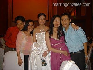 L-R: Khel, Yssah, Cathy (Bride), Jane, Me